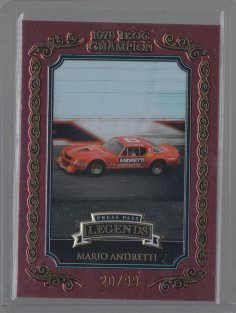 Mario Andretti 2008 Press Pass Legends IROC Champion Gold