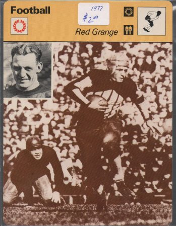 1977-79 Sportscaster Series 6 #613 Red Grange
