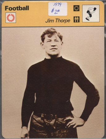 1977-79 Sportscaster Series 54 #5420 Jim Thorpe