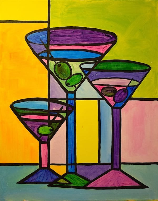 Wine Glass Painting Class Pittsburgh - Glass Designs