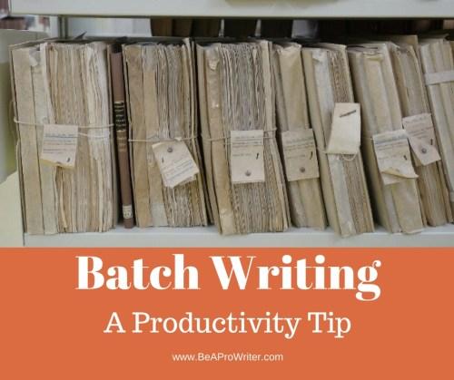 Batch Writing | Be a Pro Writer