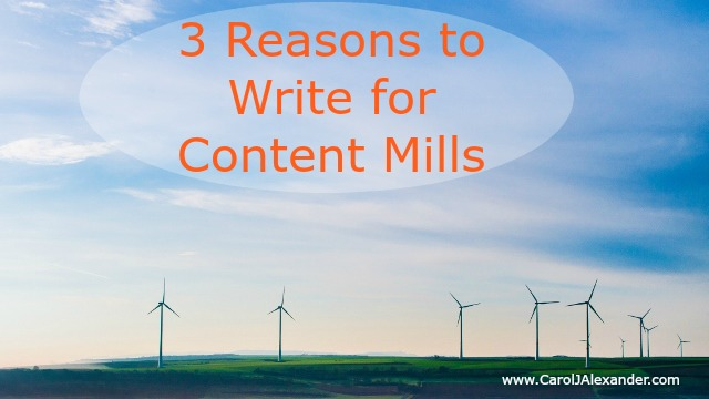 3 Reasons to Write for Content Mills | Be a Pro Writer
