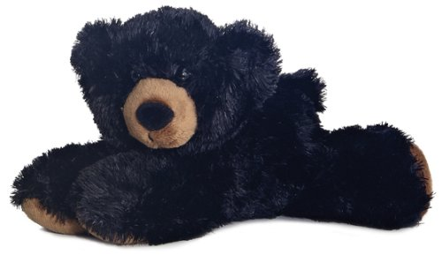 8″ Sullivan Black Bear Mini Flopsie Bean Bag