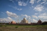 You are no longer allowed to walk along the river behind the Taj, the area is sealed off with barbed wire.
