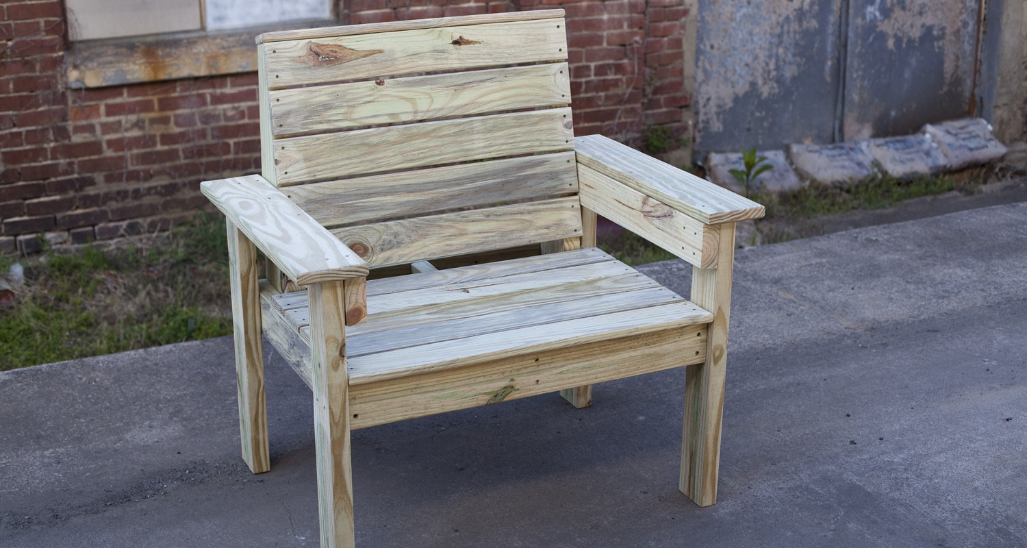 Outdoor Chair - Pressure Treated Wood