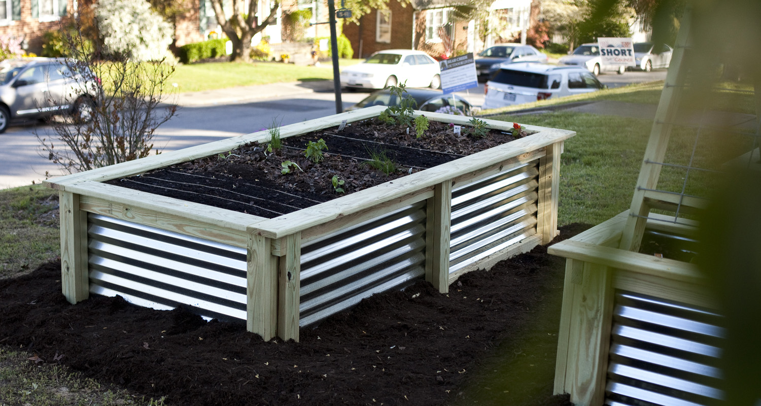Garden Box Set - Unfinished - Planted - Pressure Treated Wood