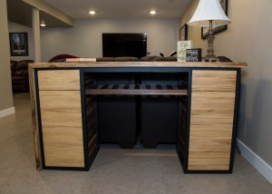 Custom Dry Bar made with locally sourced American Elm