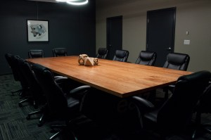 Custom Cherry Wood Boardroom Table for EATZ Enterprises