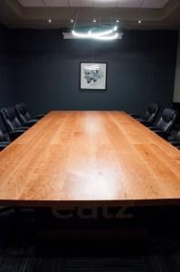 Custom Cherry Wood Boardroom Table for EATZ Enterprises
