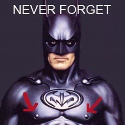 Bat Nipple Batman Suit Never Forget Batman & Robin