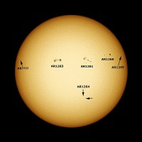 Observing Report 2nd August 2011 (Sunspots and Active Regions)
