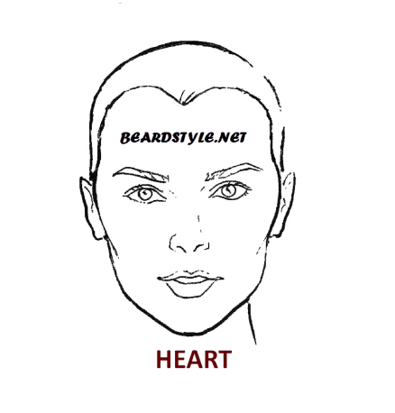 HEART face shape IS ALSO good for goatee