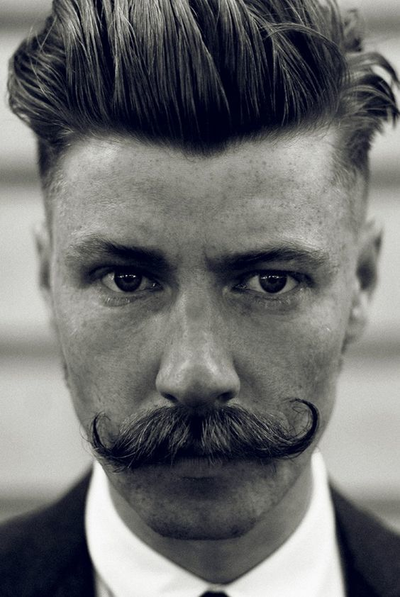 men favorite Asymmetrical handlebar mustache