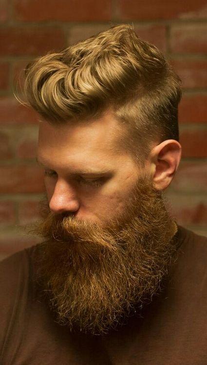 blonde Neck Ruff Beard for men