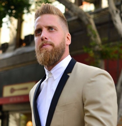 Rounded Style with blonde beard