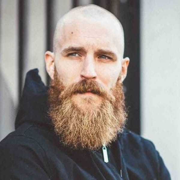 bald long bearded men