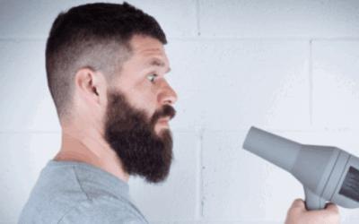 blow dry beard
