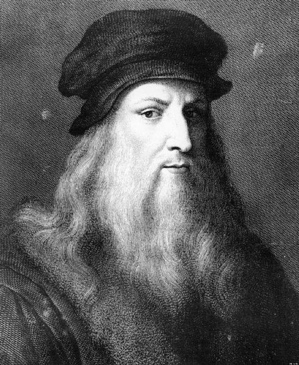 Leonardo da Vinci straight beard style