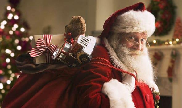 Santa Claus popular bearded mustache style