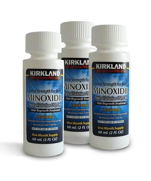 Minoxidil effect on beard