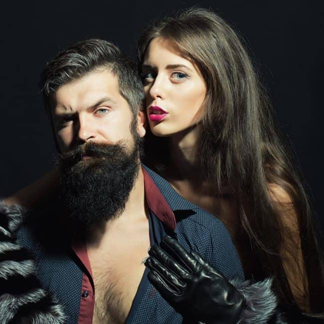man with full grown beard