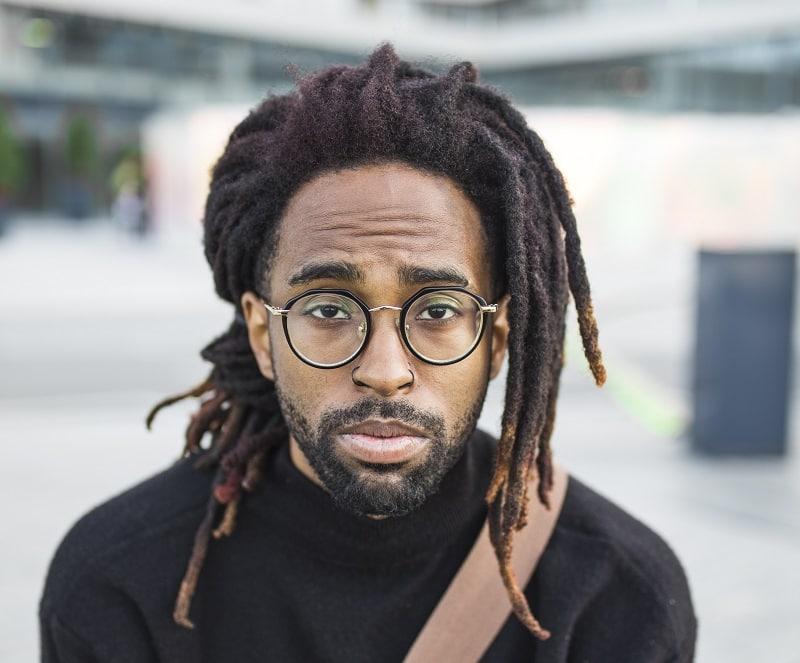 black men beard with dreads