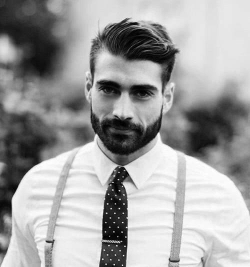 men's beard with short hair