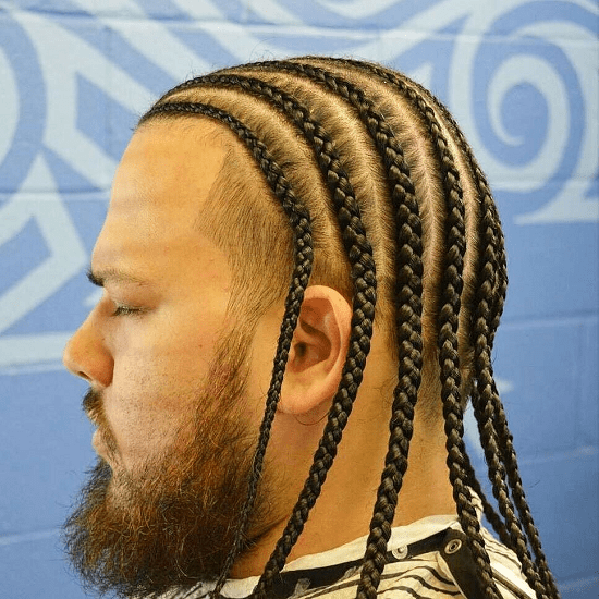 men with braids and beard