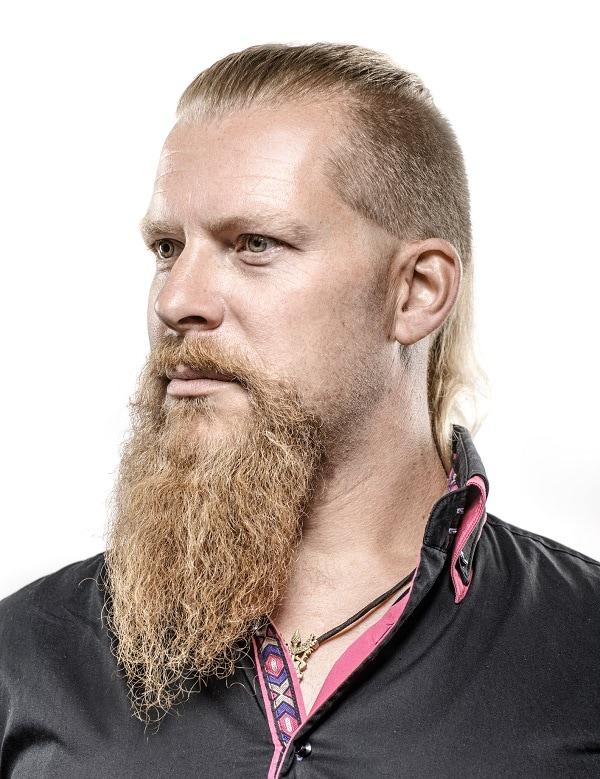 long blonde beard