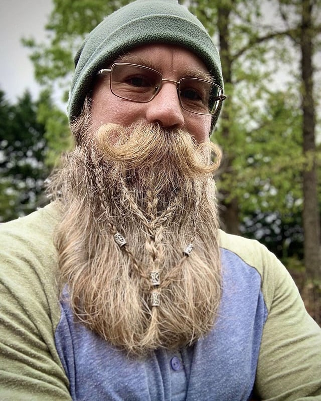 long beard with braids