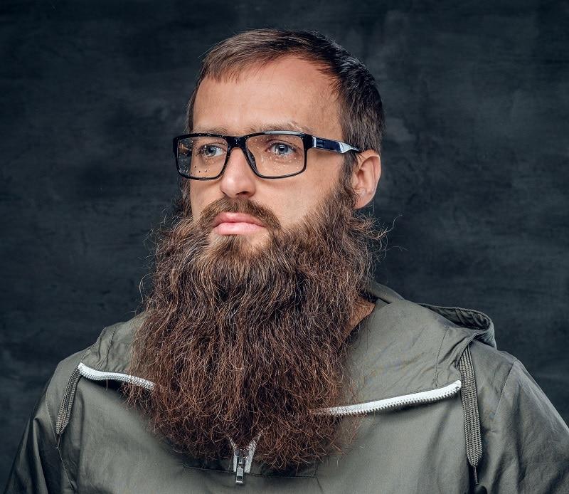 short hair with long beard