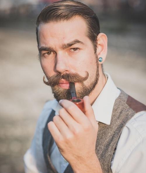 handlebar - most popular mustache type