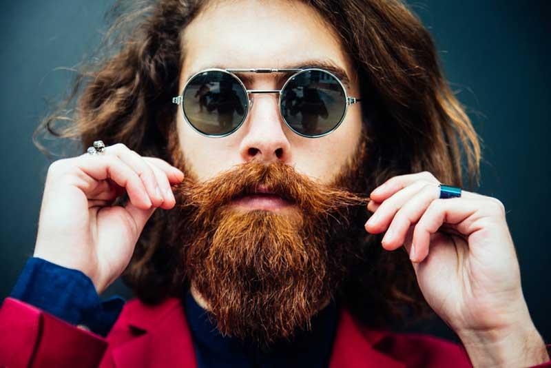 mustache and beard
