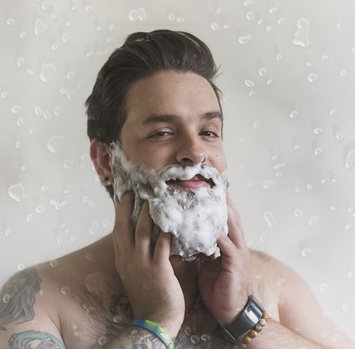 curly beard washing
