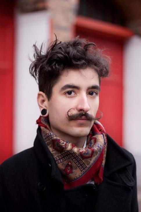 salvador dali mustache with modern twist