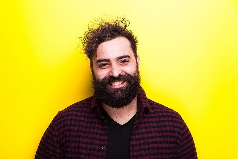 men with thick beard long mustache