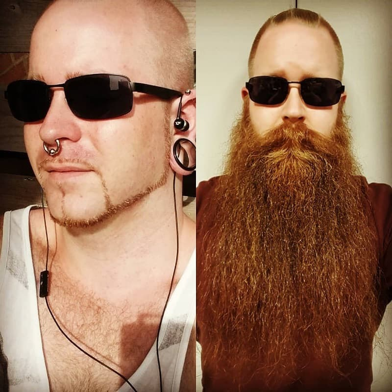viking beard before and after look