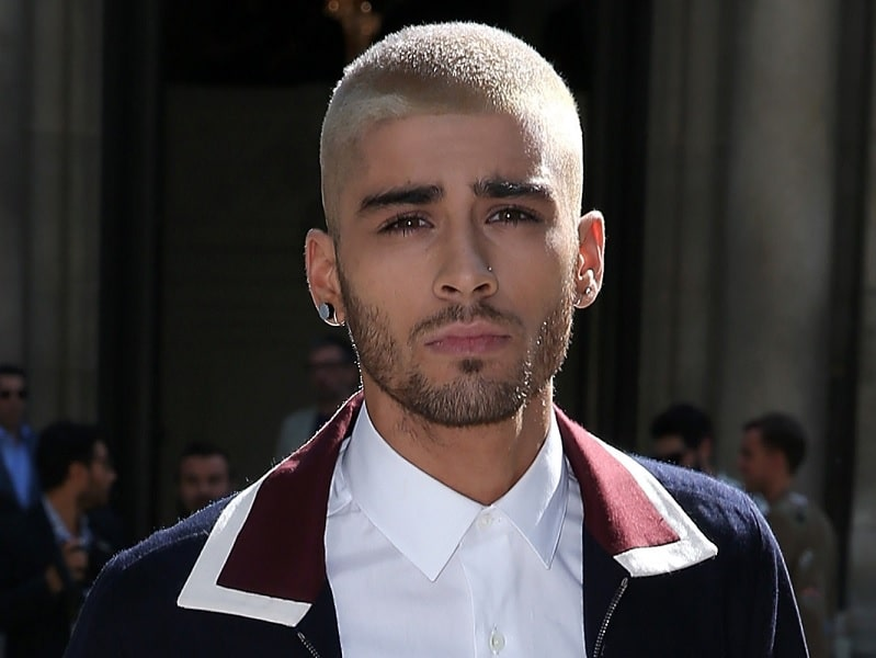 zayn malik's buzz cut and beard