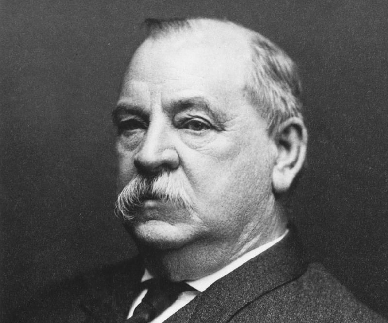Grover Cleveland - USA President with mustache