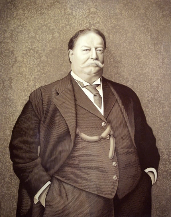 president William Howard with facial hair
