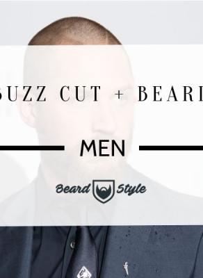 buzz cut and beard
