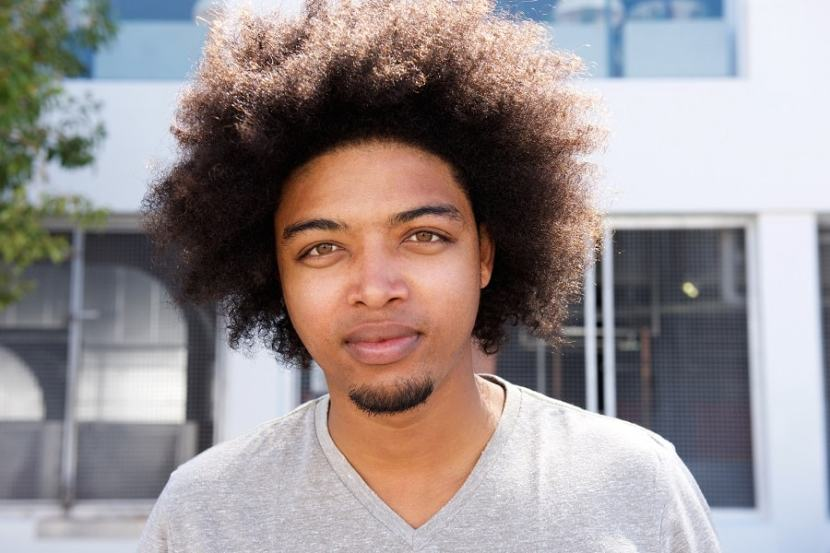 goatee bearded black men with curly hair