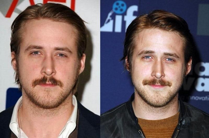 Ryan Gosling's Trimmed Mustache