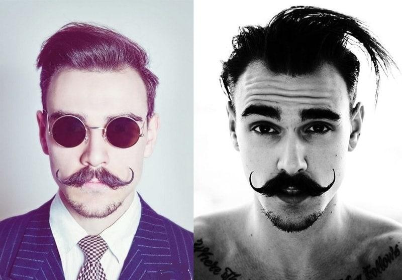 long mustache with short goatee beard
