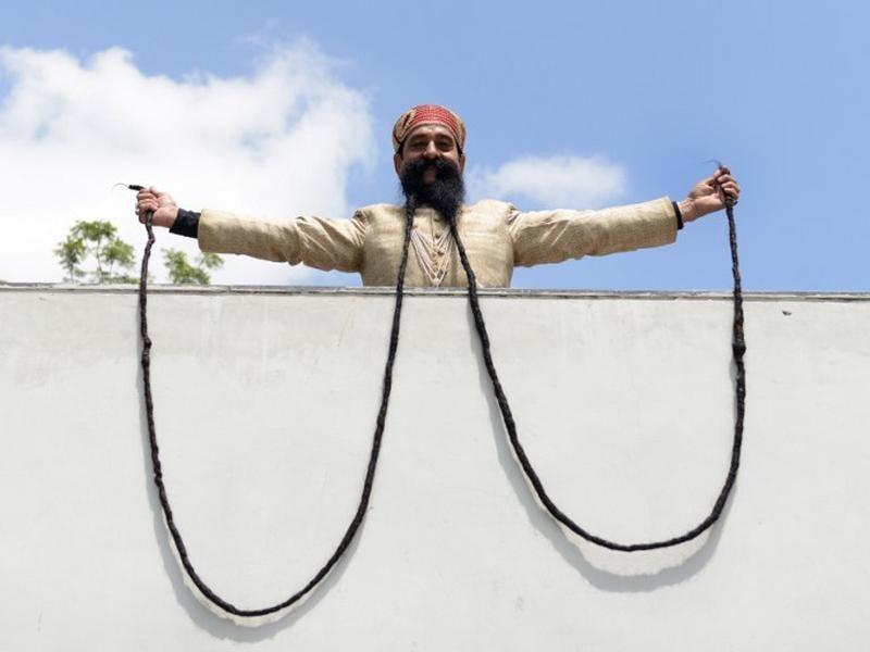 Ram Singh Chauhan's longest mustache