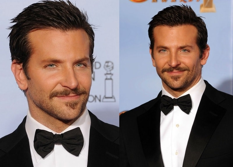 Bradley Cooper's Light Stubble with Mustache