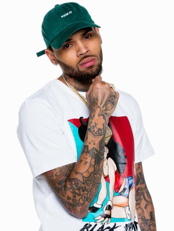 Popular Chris Brown beard Styles