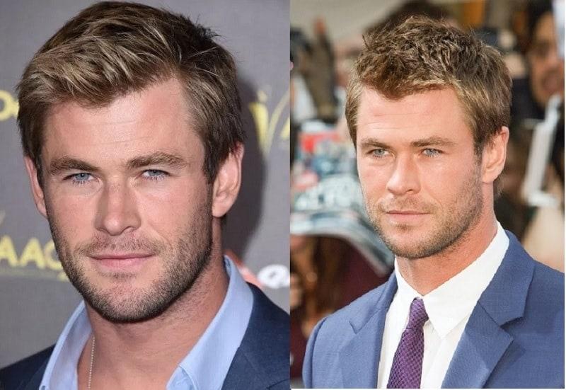 Chris Hemsworth with Light Stubble Beard