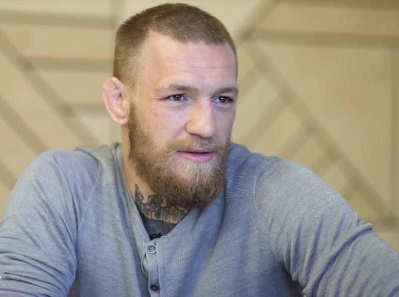 Conor McGregor's buzz cut with thick beard