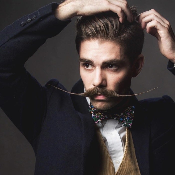 tips to style an english mustache